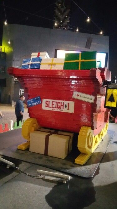 Lego sleigh at Federation Square