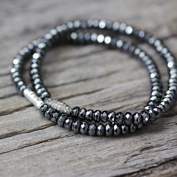 Hey, I found this really awesome Etsy listing at https://www.etsy.com/listing/188334965/hematite-hill-tribe-stacking-bracelet