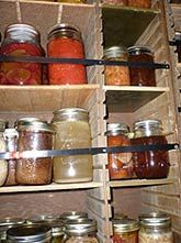 Earthquake Proof Food Storage Rooms. You only have to live thru one major earthquake to understand this