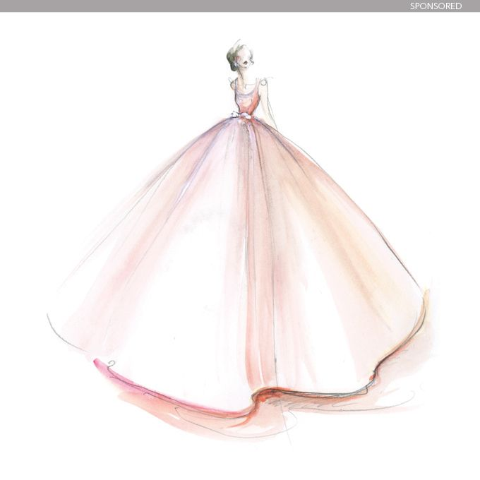 Designer Wedding Dress Sketches Behind the Scenes ...