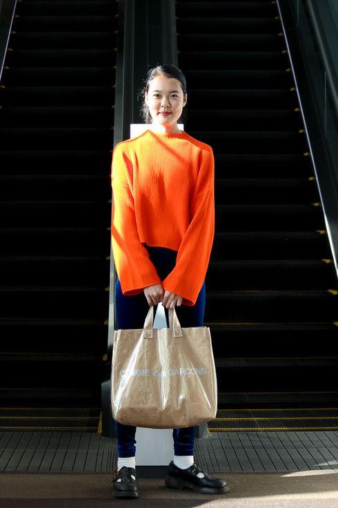 Street Style of Tokyo: Top TOPSHOP/ Pants American Apparel/ COMME des GARÇON Bag/ Dr.Martens Shoes   Fashionsnap.com