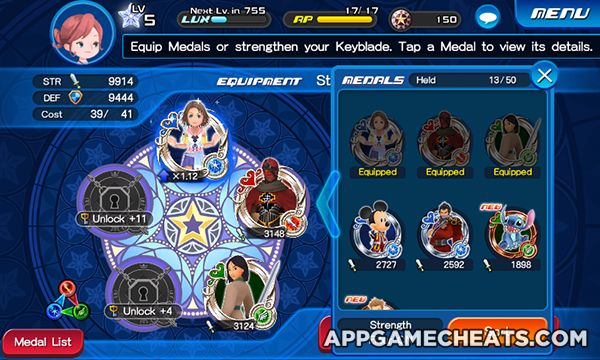 Kingdom Hearts Unchained X Hack, Tips & Cheats for Jewels, All Medals, & Outfits Unlock  #Action #KingdomHearts #Popular #Strategy #UnchainedX http://appgamecheats.com/kingdom-hearts-unchained-x-hack-tips-cheats/