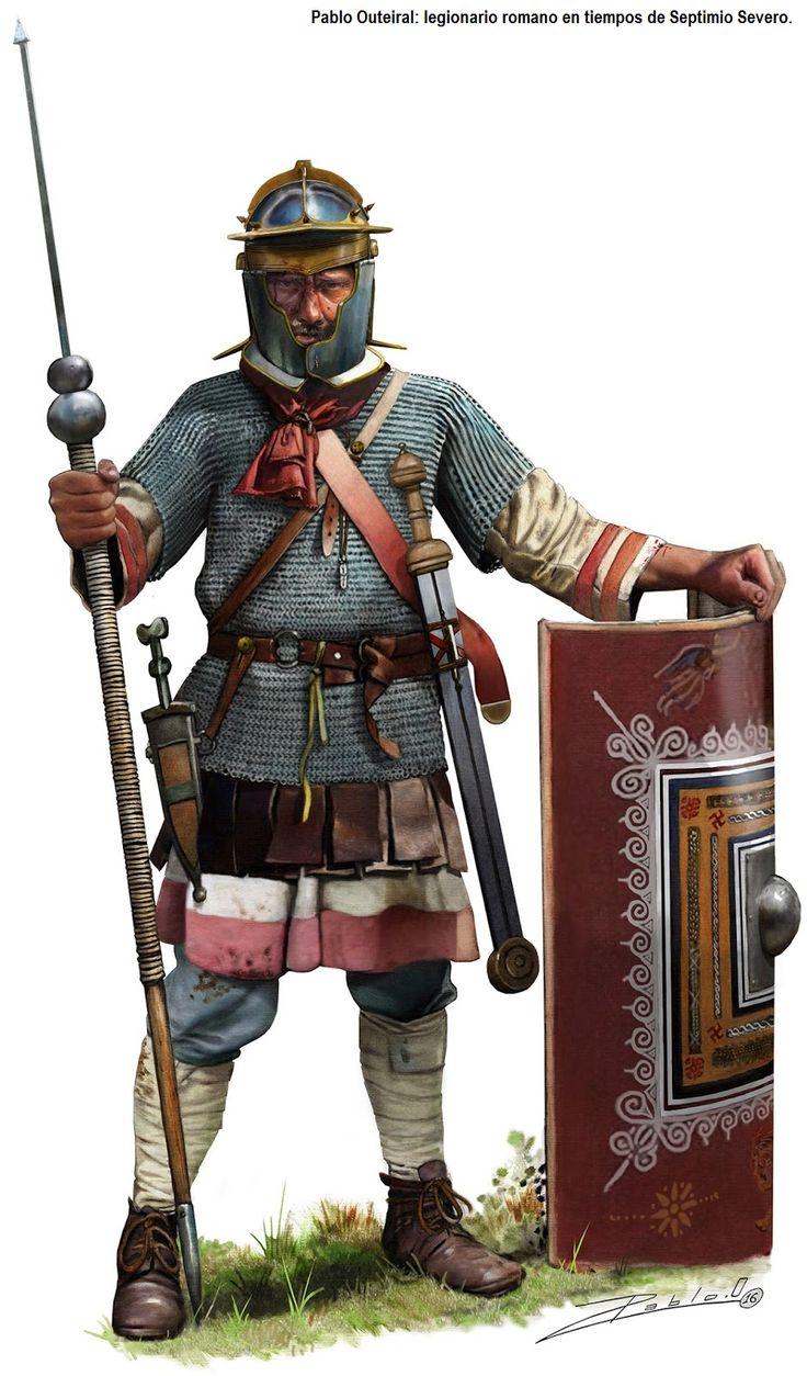 Pablo Outerial - Legionario romano de la época de Septimio Severo.