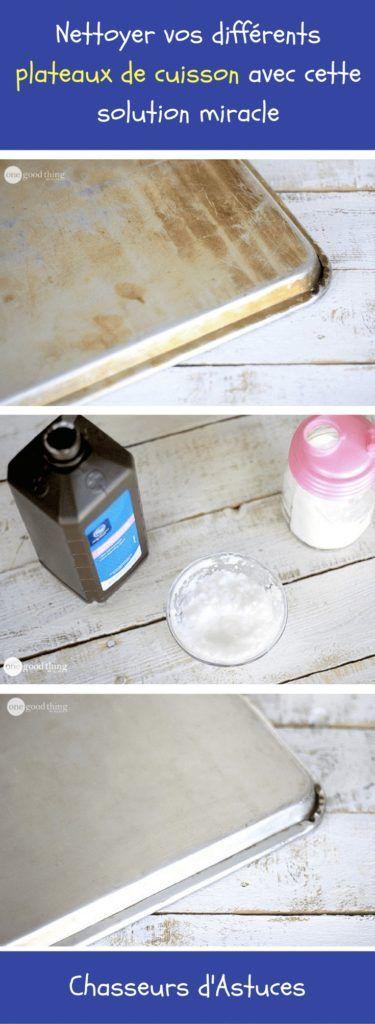 mélange de bicarbonate de soude avec de l'eau oxygénée sur vos plats Attendez 2h puis essuyer / frotter avec un chiffon.