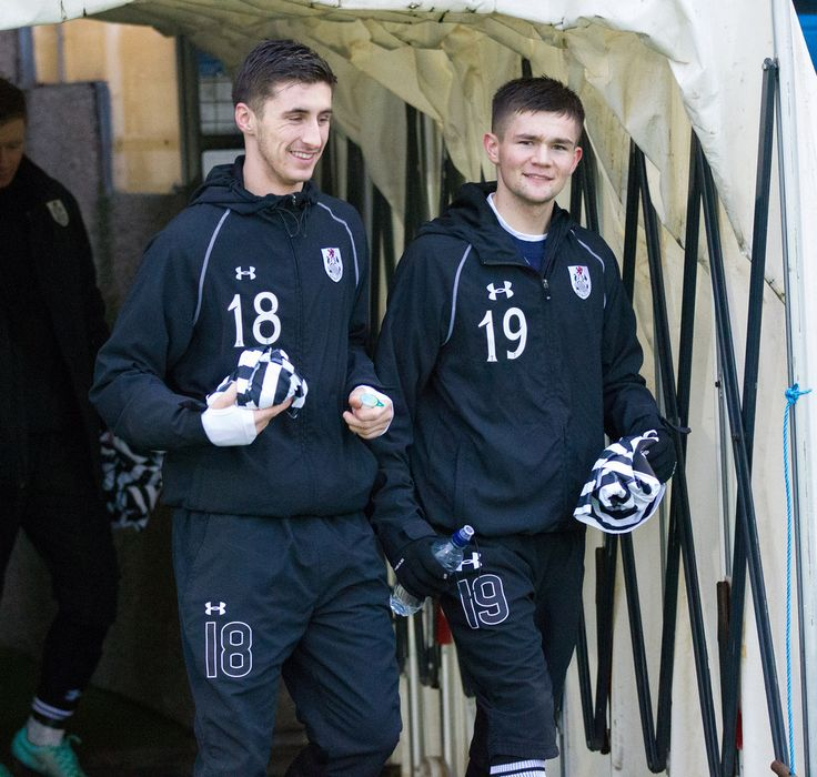 Queen's Park's Billy Mortimer and Ewan MacPherson before the Ladbrokes League One game between Peterhead and Queen's Park.
