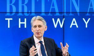 British Chancellor of the Exchequer Philip Hammond today.