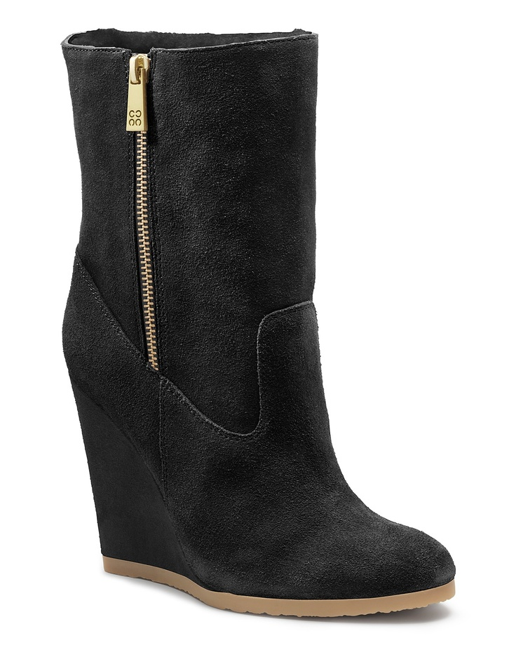 COACH Danee Side Zip Wedge Bootie | FW2012