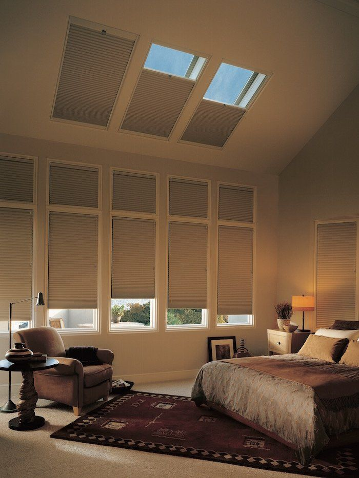Duette honeycomb shade on a bedroom skylight, for sale at Superior Blinds in Litchfield Park, AZ