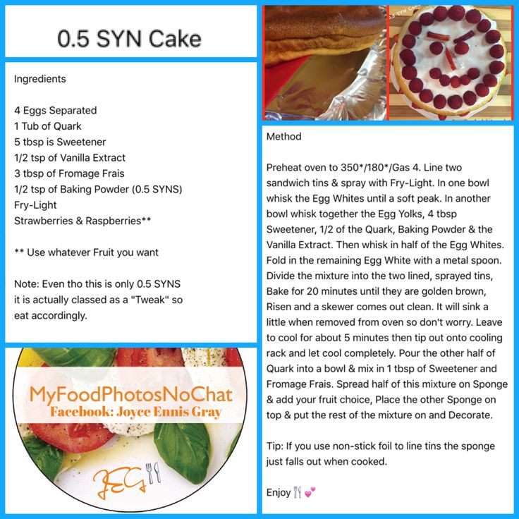 Half Syn Cake Slimming World Slimming World Recipes