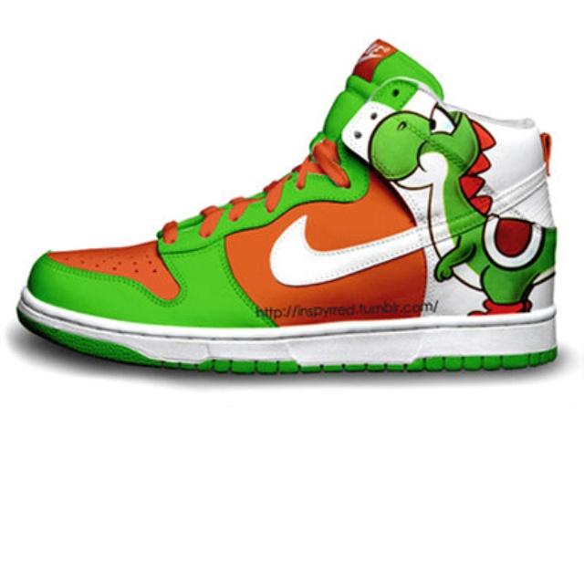 bea1f6da06f1 Yoshi Nike Dunks.