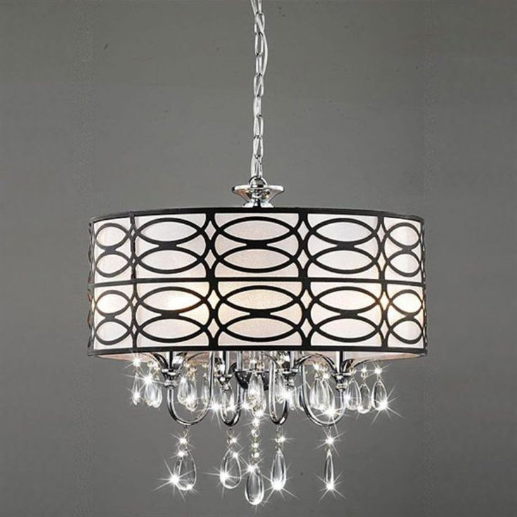 shop warehouse of tiffany roxanne 17in w brownchrome crystal accent pendant light