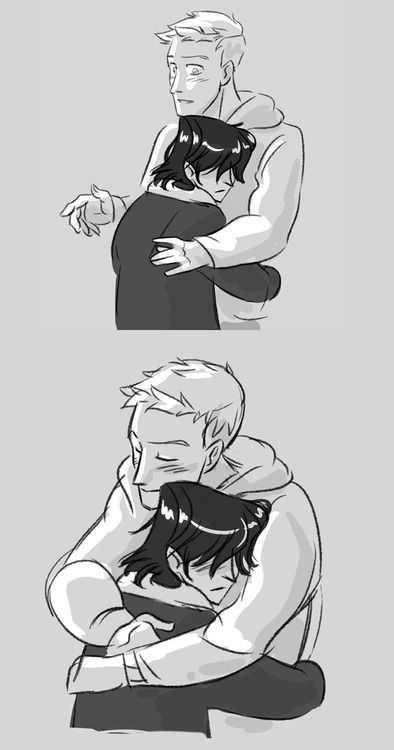 Nico and Jason... Jason's like a super sweet older brother for Nico and it's really cute...