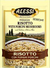 Easy way to make Creamy, Luxurious, Cheesy Risotto with umami mushrooms mixed in al dente arborio rice.