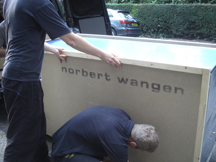 #Norbert Wangen #Boffi kitchen all crated up and ready to be opened!