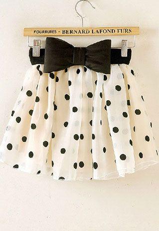 cute polka dot bubble skirt