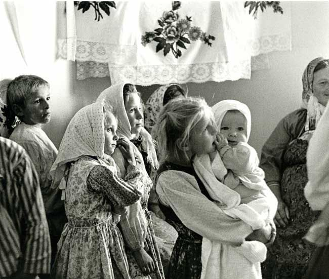 Russian Old Believers: Children at a Svadba (Wedding) 1971 in Woodburn, Oregon