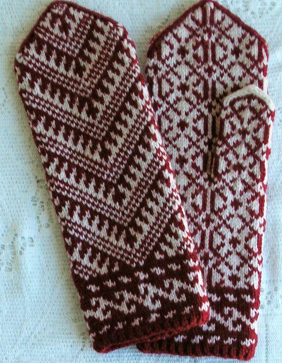 Handknit Turkish Mittens - Women Small / Medium
