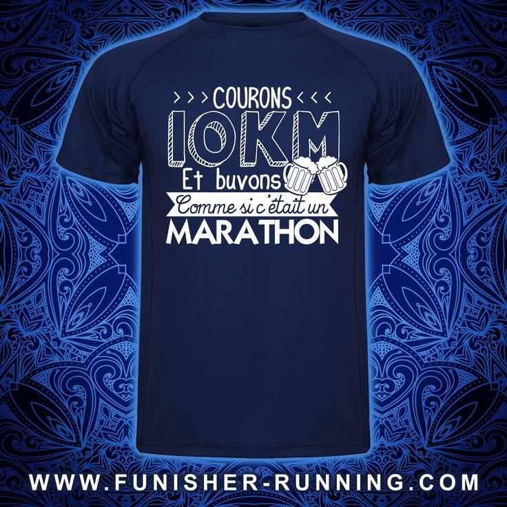 Courons 10km et buvons comme si c'était un #marathon ! ➪ T-Shirt Homme http://urlc.fr/YaJ5vX et Femme http://urlc.fr/qk0IMz