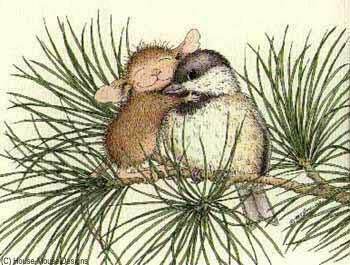 """""""Hugging A Bird"""" from House-Mouse"""