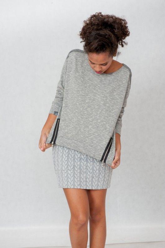 Zip me! Bluza z suwakami