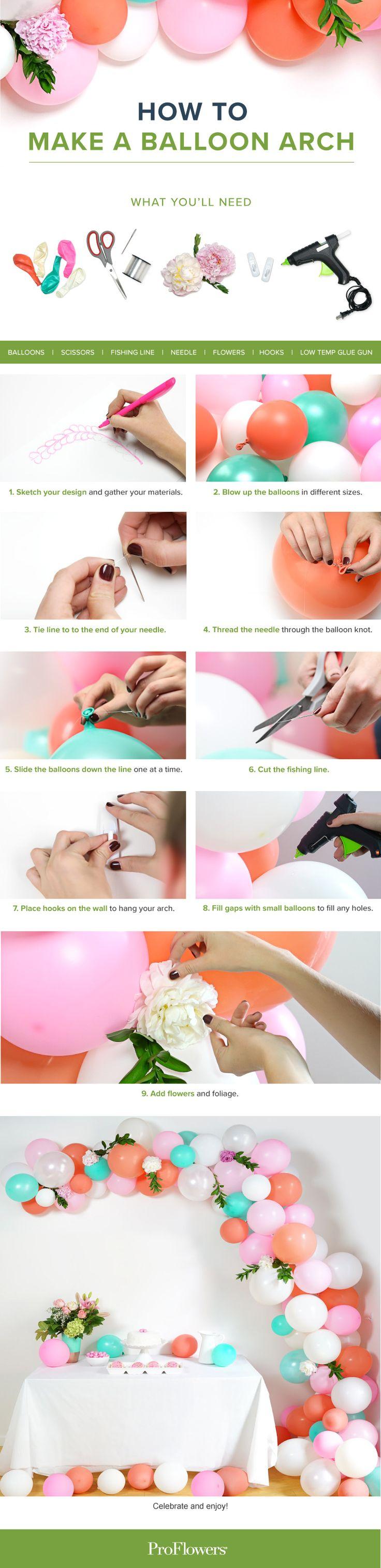 DIY Balloon Arch - it's so easy!
