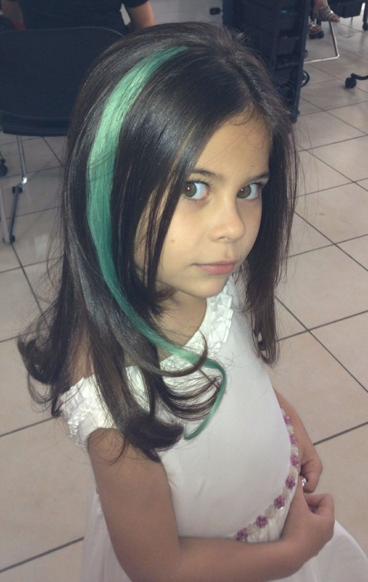 Colored hair extensions for kids! | Kid with style ...