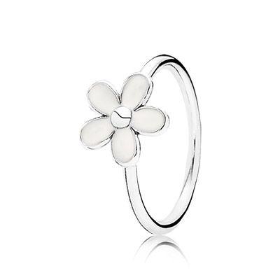 PANDORA | Darling daisy, white enamel