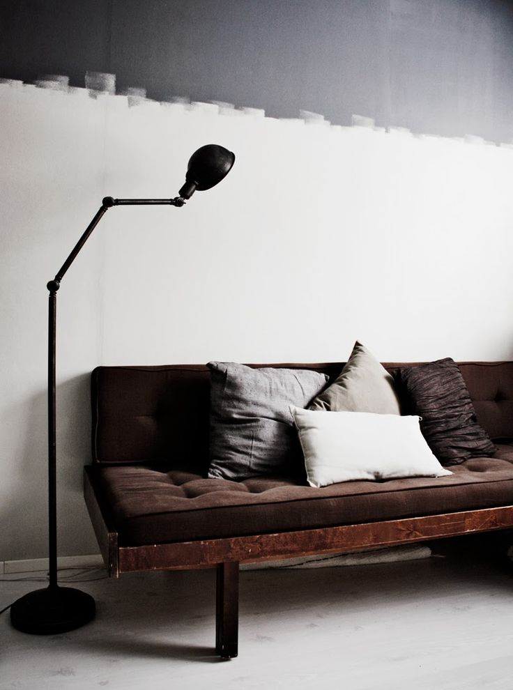 scandinavian love song half painted walls styling