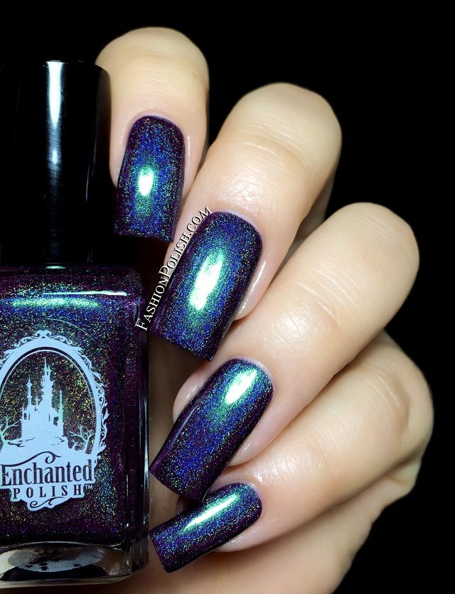 Dark Fantasy is a dark purple holo with a strong green shimmer that shifts to a warm purple