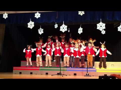 Haley's 1st Grade Holiday Concert - Boogie Woogie Reindeer - YouTube