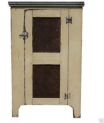 Primitive Pie Safe Antique Reproduction Early American Country Cupboard Pine | eBay