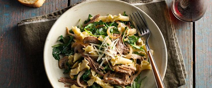 If you've never thought of putting pulled pork and pasta together, prepare yourself for a hearty, heavenly plate of perfection that you can have on the table in half an hour. Use 2 cups of Make-Ahead Oven-Roasted Pulled Pork  for super-speedy prep!