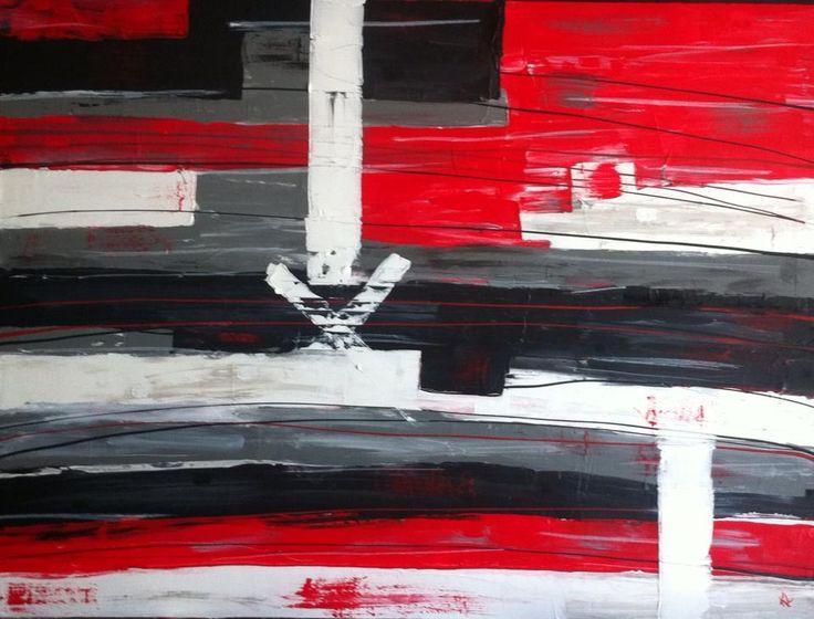 Toile Abstraite. Acrylique sur toile de coton 48'' x 36'' Love. Karolanne Leduc. Suivez-moi sur Facebook Karolanne Leduc Artiste
