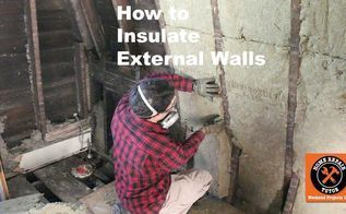 how to insulate external walls and decrease utility bills , dining room ideas, home maintenance repairs, how to, hvac #utilitybills