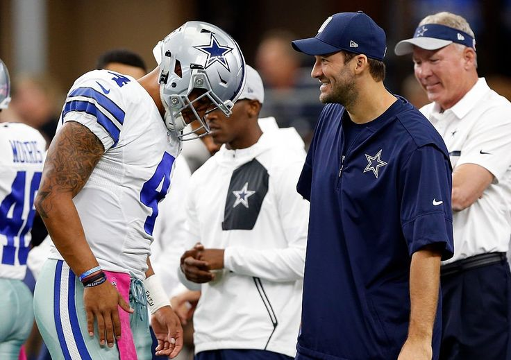 Tony Romo gave an emotional 6-minute speech on his own struggles and how Dak Prescott has 'earned the right' to be the Cowboys' starting quarterback