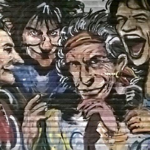 #ONASUNDAY #stones #rollingstones #streetart #art #band #rocknroll #garage #garagerock #rollon #rolladoor #graphic #design #power #age #youth #classicrock #mick #keith #ron #charlie