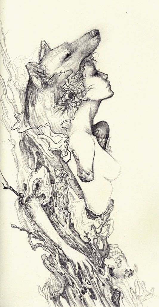 longing by sooj.deviantart.com on @deviantART   Graphic, illustration, drawing...   Pinterest on We Heart It