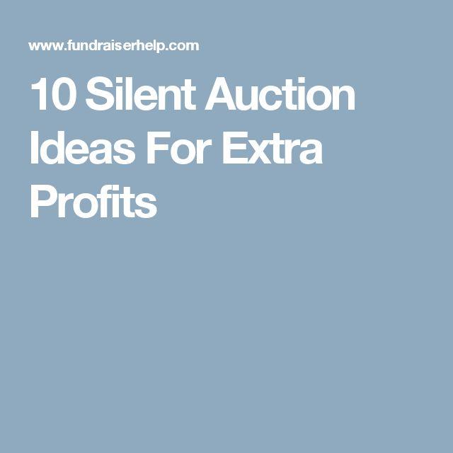 10 Silent Auction Ideas For Extra Profits                              …