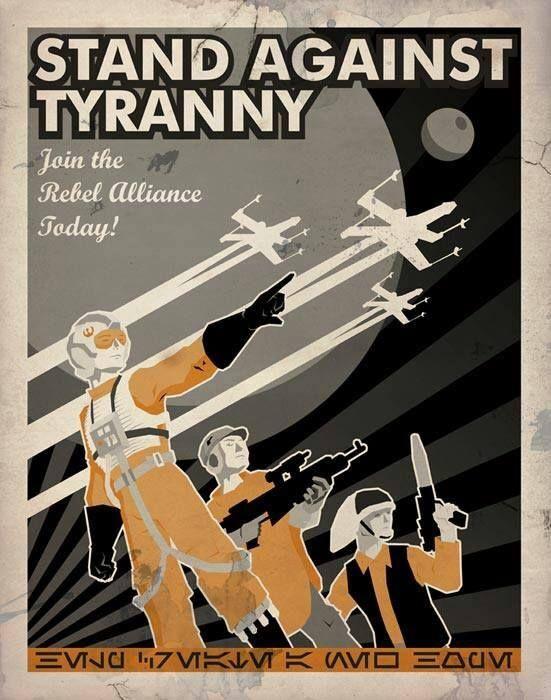 Star Wars Saga Rebel Alliance Recruitment Poster
