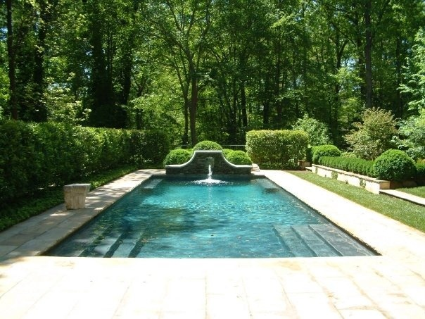 Pretty Pool: Swimming Pools, Howard Design, Pools Idea, Pools Step, Water Features, Pretty Pools, Outdoor Spaces, Design Elements, Traditional Pools