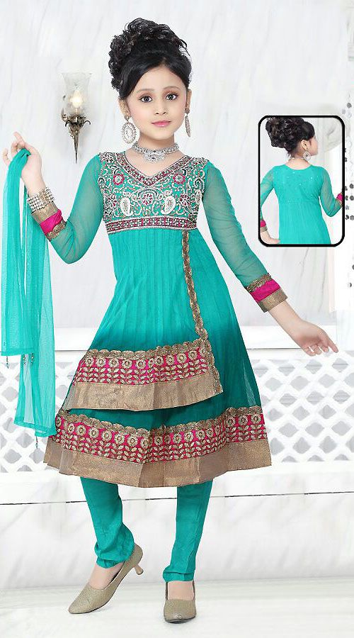 Fashion style Suits indian for kids for woman