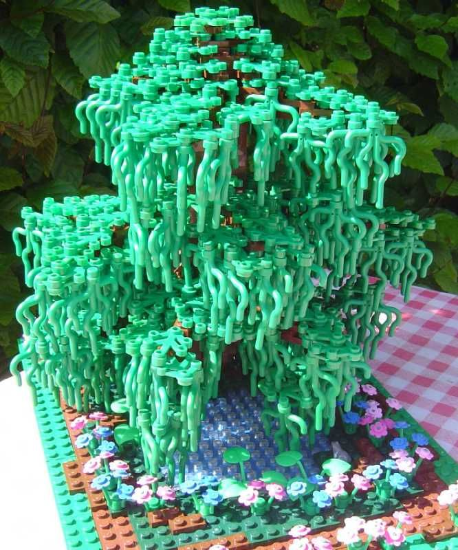 lego tree from seaweed - lego plants always creep me out. This is beautiful but still creepy.