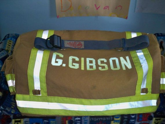 Hey, I found this really awesome Etsy listing at https://www.etsy.com/listing/186252127/firefighter-used-gear-duffle-made-from