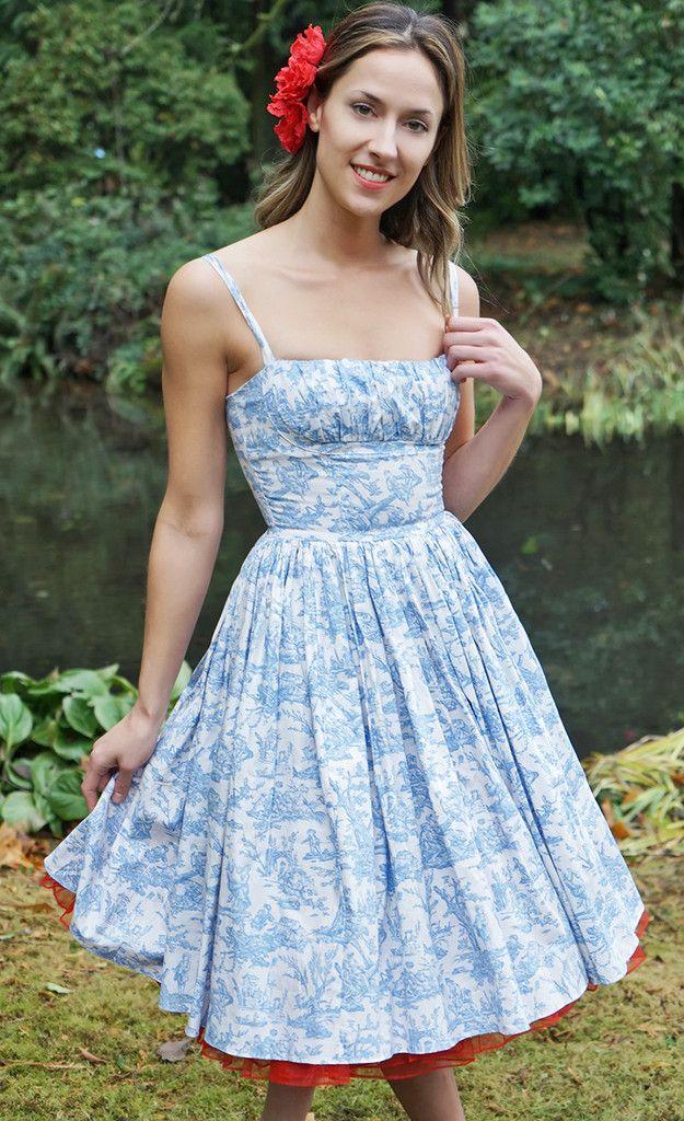 Bernie Dexter: Paris Pin Up Dress in Blue Toile | Mostly ...