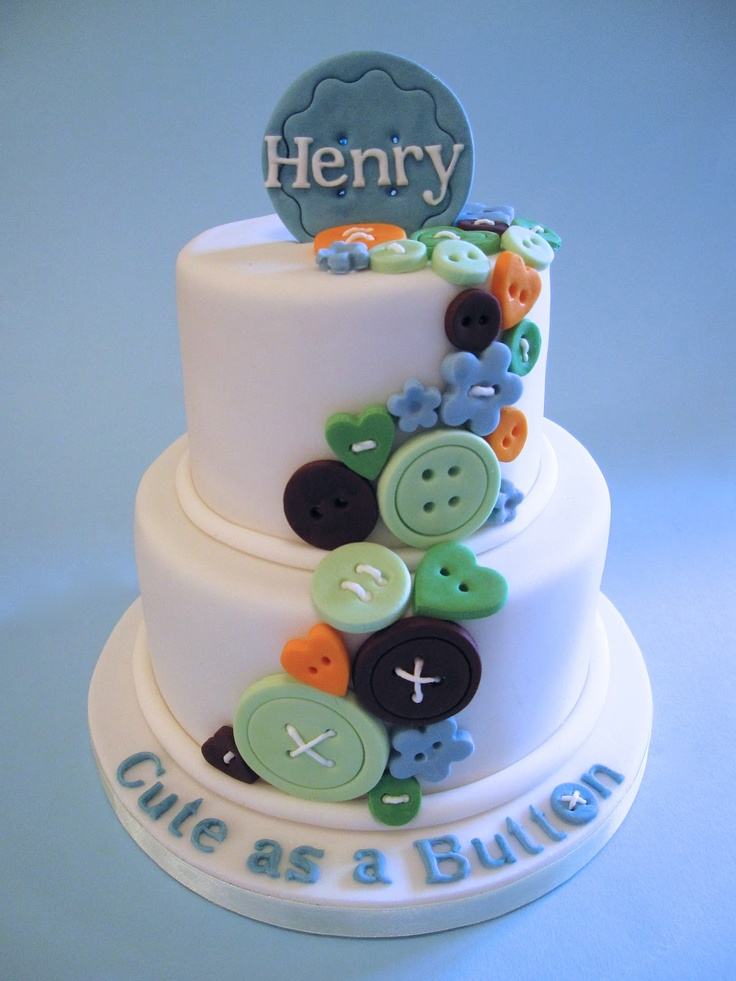 Cakes By Jacques - Beautiful Bespoke Cakes, Biscuits and Cupcakes: Cute as a button cake