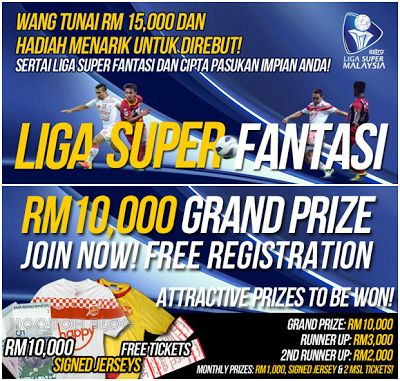 Liga Super Fantasi 2013 Malaysia, Online Football Manager game. Join now..   http://www.hootoh.my/2013/01/liga-super-fantasi-malaysia-football.html   Liga Super Fantasi Malaysia Football Manager
