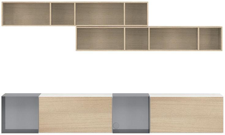 Системы для хранения - стенка Lugano с ящиками - Белый