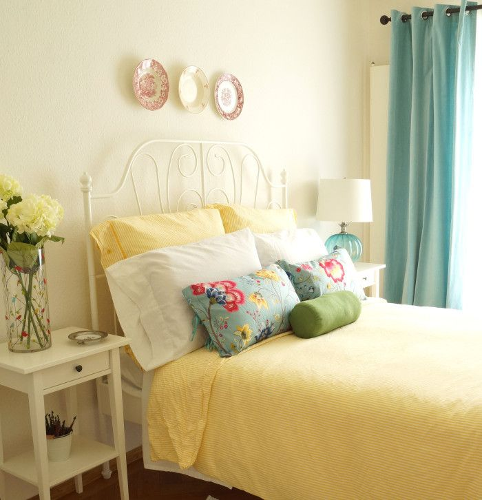 Cozy Guest Room Reveal - using Ikea bedding