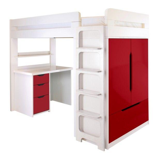 Farringdon High Sleeper With Desk Judes Room Pinterest