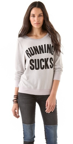 Running Sucks Baggy Beach Sweatshirt
